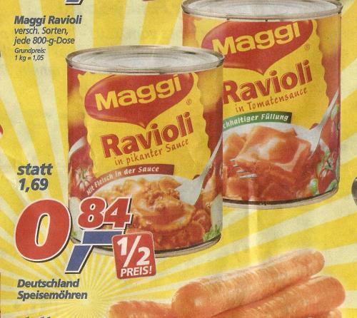 Maggi Ravioli bei Real für 84 cent