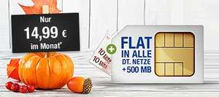GMX/Web.de All-Net Flat Special: D2-Allnet Flat mit 500MB-Flat für 14,99€/Monat (24 Monate MVLZ)