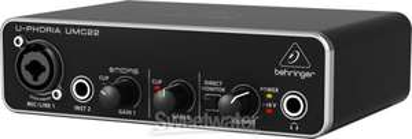 Behringer U-Phoria UMC22 USB Audiointerface