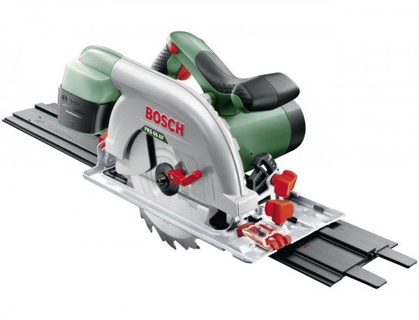 Bosch Handkreissäge PKS 66 AF HomeSeries + Führungsschiene + Sägeblatt (1600 W, max. Schnitttiefe 66 mm, CleanSystem Box) für 99,26 € @Amazon.fr