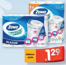 [IHR PLATZ] Zewa Wisch & Weg Küchenrollen 4x74/4x45/2x86/2x72 Blatt für 0,79€ (Angebot+Coupon)
