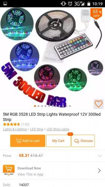 5m LED Band 3528er 60/m @ banggood.com