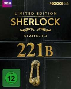 Sherlock - Staffel 1-3 (exklusiv bei Amazon.de) [Blu-ray] [Limited Edition] für 52,97 € > [amazon.de]