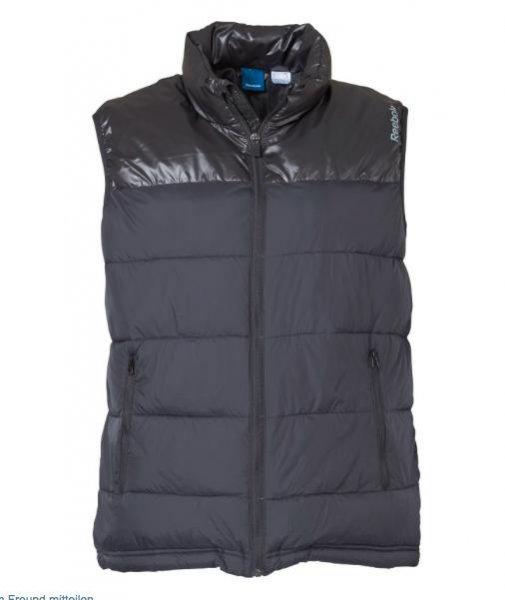 [MandM] schwarze Reebok Herren Stepweste für 27,94€ statt 45€ inkl. VSK, viele Größen