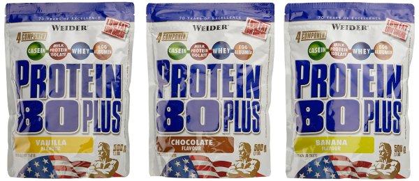 [AmazonDEPrime] Viele Weider Protein 80 Plus Beutel im 2er oder 3er Pack - ab 10,95 EUR