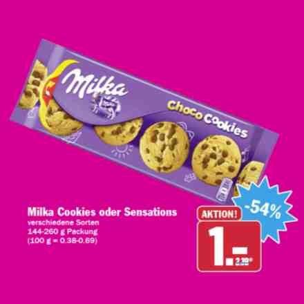 [HIT] Milka Cookies oder Sensations 144-260g für nur 1,00€ (06.+07.11.)