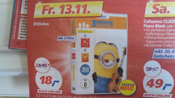 (real,- on-& offline 13.11.2015) Minions - 3 Movie Collection (DVD) für 18€