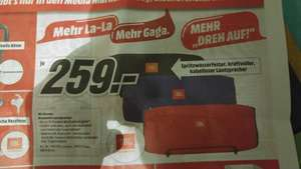 (Media Markt Mainz) JBL Xtreme Bluetooth Lautsprecher für 259€