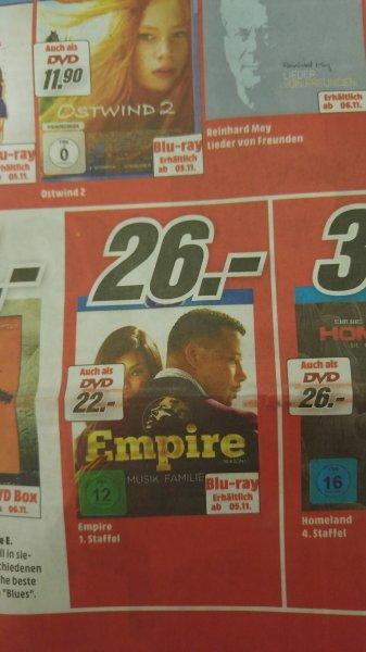 (Media Markt Mainz) Empire - Season 1 auf Blu-ray für 26€