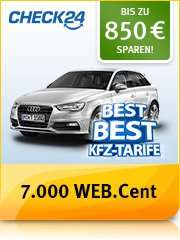 70 Euro (BestChoice/DriversChoice) für Kfz-Versicherung über Check24.de [web.de Club]