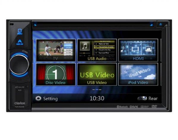 [EHO] Clarion NX-404E MKII 2-DIN Multimedia - Navigationsgerät mit 2 x USB, HDMI, Parrot Bluetoothmodul, DVD und Kartensoftware für 43 Länder