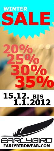 EARLYBIRD 35% im Onlineshop - Gutscheincode: FINALSALE