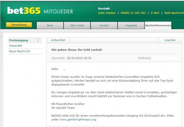 Live Angebot bei Bet365 Bayern München - Arsenal London!