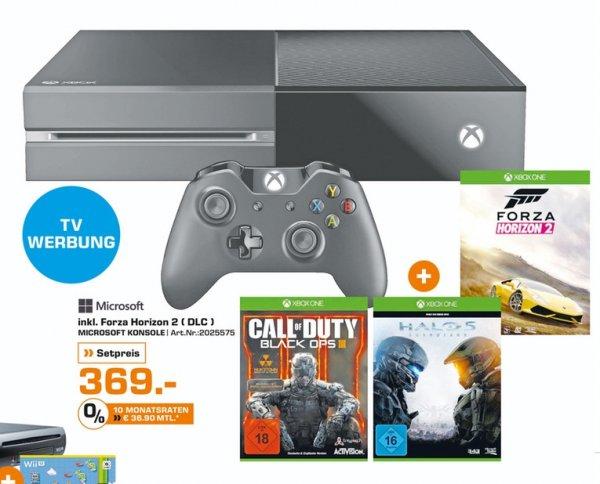[Saturn Ab sofort Bundesweit] Xbox One 500GB + Forza Horizon 2 & Halo 5 + COD Black Ops 3 für 369,-€ Versandkostenfrei