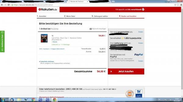 Black Ops 3 III (PS4) bei Rakuten für eff. 35,50 € f. Neukunden