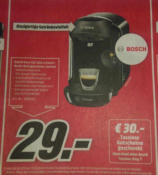 Media Markt - Bosch Vivy TAS 1552 für 29 Euro + 30 Euro Tassimo Gutschein