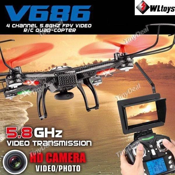 WIEDER DA! WLtoys V686 4CH 360° Flip 5.8GHz 2MP HD LED RC Quadcopter Drohne mit Video Transmitter VERSAND AUS DE @tinydeal  Inkl. persönlichen Review