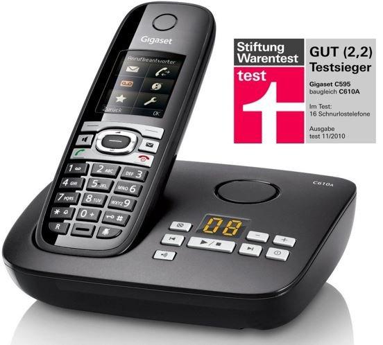 Gigaset C610A – DECT Telefon mit Anrufbeantworter für 49,95€ @allyouneed
