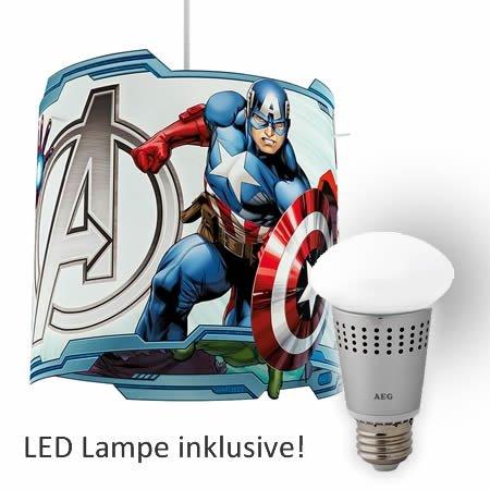 Philips Marvel Avengers Pendelleuchte + AEG LED 8,5W Lampe