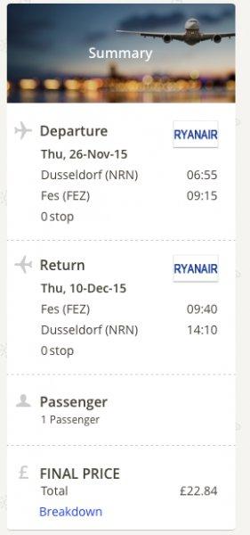 Extrem günstige Flüge mit Ryanair - Europaweit günstige Hin- und Rückflüge - z.B. Düsseldorf-Marokko für 32€