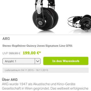 Brands4friends Outlet AKG Q701 Quincy Jones Kopfhörer
