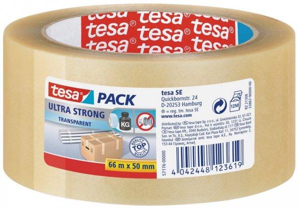 [Staples] - Packband Tesa 4124, 50mm x 66m, leise abrollbar, PVC