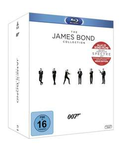 The James Bond Collection (+ Leerplatz für Spectre + Bonus Disc + Booklet, 24 Discs) - (Blu-ray) für 94 € @ Saturn Latenight Shopping
