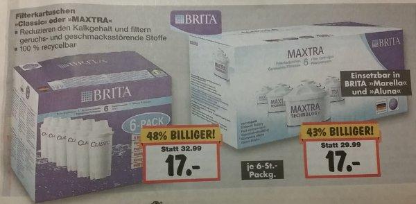[Lokal Neuss] 6er Pack Brita Filter Maxtra oder alte Bauform