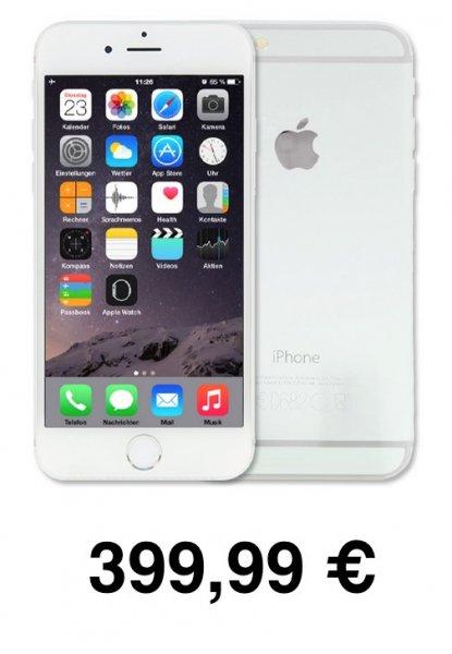 iPhone 6 16 GB Silber refurbished für 399,99€ heute im eBay WOW-Angebot heute autocold