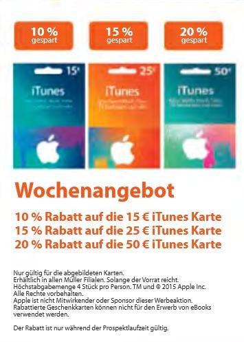 iTunes Karten, 50 € für 40 €