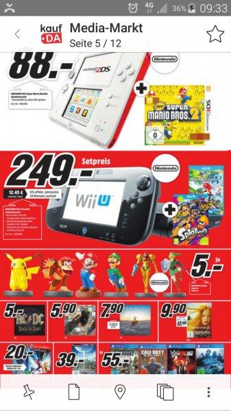 Nintendo Wii u 32gb plus Mario kart 8 plus splatoon  (lokal homburg saar)