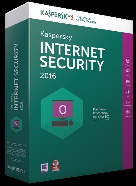 (Rakuten) Kaspersky Internet Security 2016 1 PC 1 Jahr Download für 14,90 Euro inkl. 2,10 Euro in Punkten