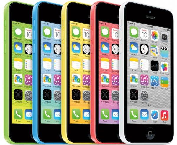 """Apple Iphone 5c - 32GB - weiss/grün/gelb - """"wie neu/ refurbished"""" für 299,- €"""