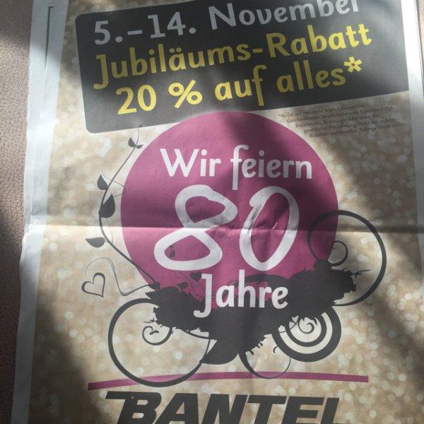 20% auf fast alles bei Bantel in Schorndorf