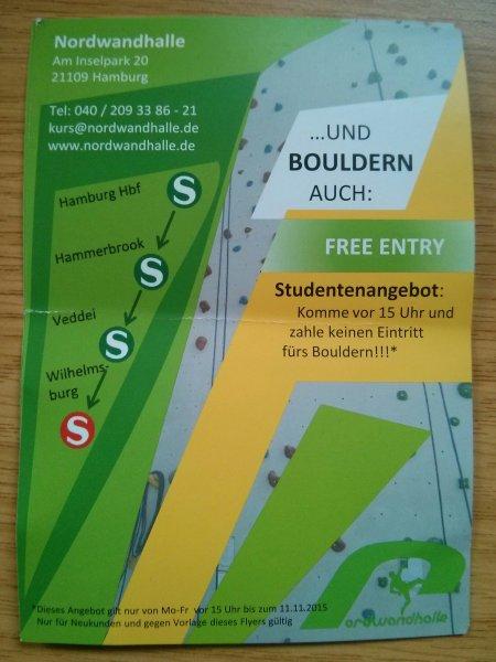 [Lokal, Hamburg] Gratis Bouldern für Studenten