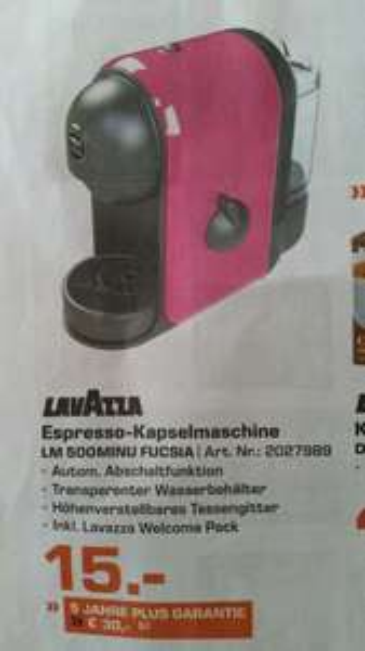[Lokal Saturn D] Lavazza LM 500MINU fucsia Espresso-Kapselmaschine