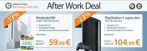 [Rebuy After Work Deal] PlayStation 3 Super Slim 500GB für 103,98€ oder Nintendo Wii inkl. Wii Sports für 58,98€