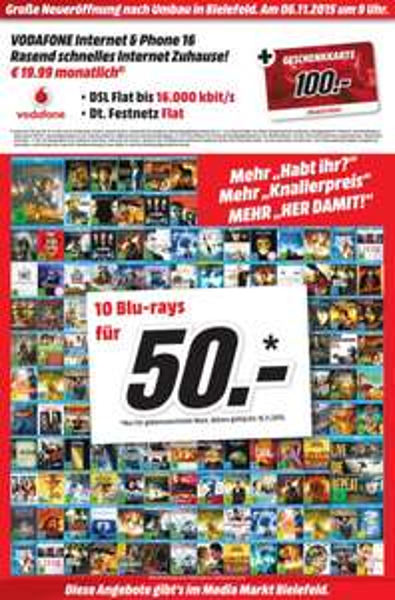 [Lokal Media Markt Bielefeld] 10 Blu-rays für 50€