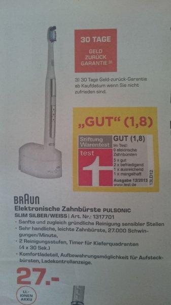 Lokal Saturn Hannover Braun Pulsonic Slim Zahnbürste für 27€