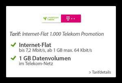 Sparhandy Datenflat-Aktion im D1-Netz: 1 GB (UMTS) 3,99 €, 3 GB (LTE) 6,99 €, 6 GB (LTE) 9,99 € + 2 Monate Maxdome