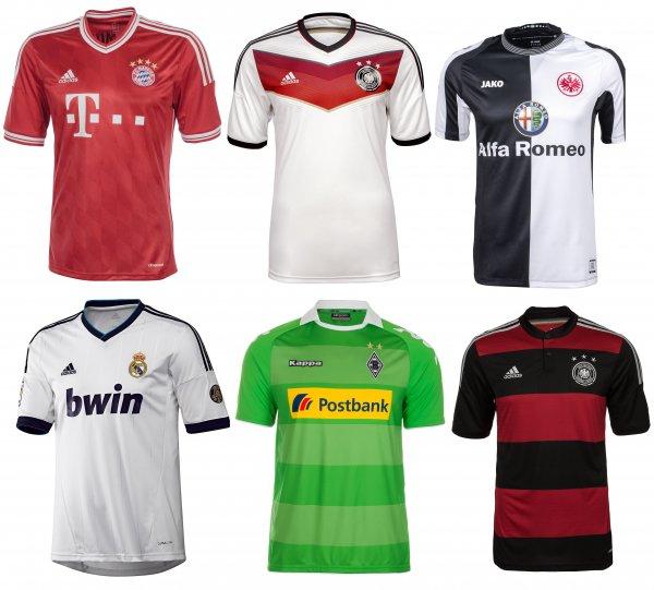 Trikots Vereine/ Nationalmannschaft (alte Modelle) - versch. Größen ab 13,96 € (Deutschland, FC Bayern, Real Madrid, Eintracht Frankfurt, Borussia Mönchengladbach)