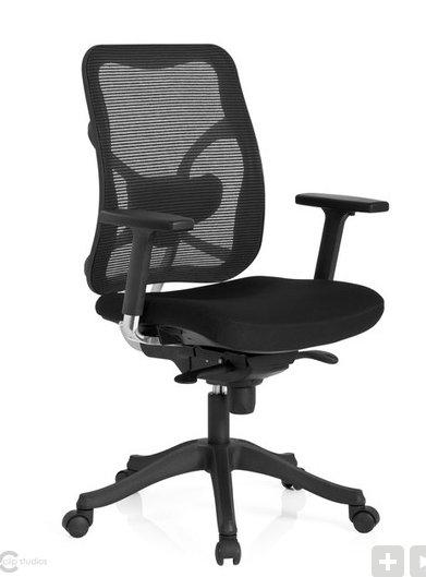 [bürostuhl24] Bürostuhl / Chefsessel TAURUS BASE Sitz Stoff / Rücken Netz schwarz hjh OFFICE