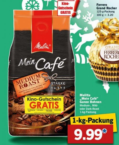 LIDL - Melitta Mein Cafe verschiedene Sorten 1kg für 9,99€ vom 12.11. - 14.11.2015