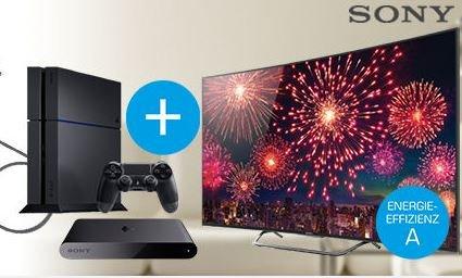 Sony Bundle: Sony KD-55S8005C + Playstation 4 (500 GB) + Playstation TV + Oehlbach HDMI Kabel 1,7m für 1.790 € vsk-frei @saturn.de