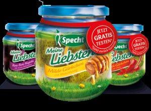 """Specht """"Meine Liebsten"""" GzG Honig Gürkchen, Chili Gürkchen oder Rote Bete Kugeln mit Aceto Balsamico GRATIS testen"""