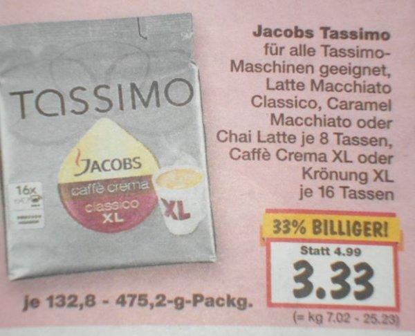 [Kaufland] JACOBS Tassimo, verschiedene Sorten für 3,33 Euro.