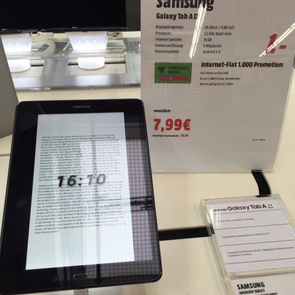 Samsung Tab A LTE inkl. 1GB D1 Tarif MM HH-Hummelsbüttel