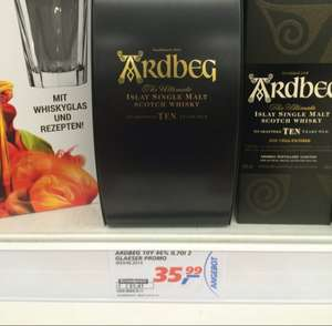 """LOKAL HH Real Farmsen: Ardbeg TEN """"Quadrant"""" The Ultimate Single Islay Malt Scotch Whisky 46% vol. 10 Years old - in Geschenkpackung - limitiert -"""
