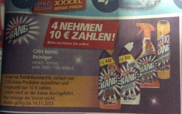 [Real offline] 4 Cilit Bang Produkte Nehmen 10 € bezahlen