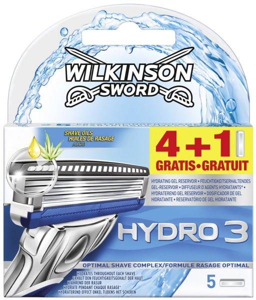 [Amazon.de-Prime-Sparabo] Wilkinson Sword Hydro 3 Klingen, 4 Stück + 1 gratis   ab 4,66€